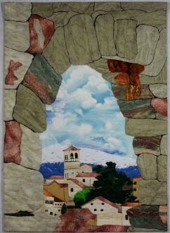 The Present Through the Past, (Roman Aqueduct, Segovia), ©2014 Joni Beach.