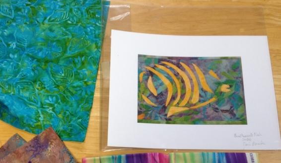 Fractured Fish #1 Print & Fabrics.